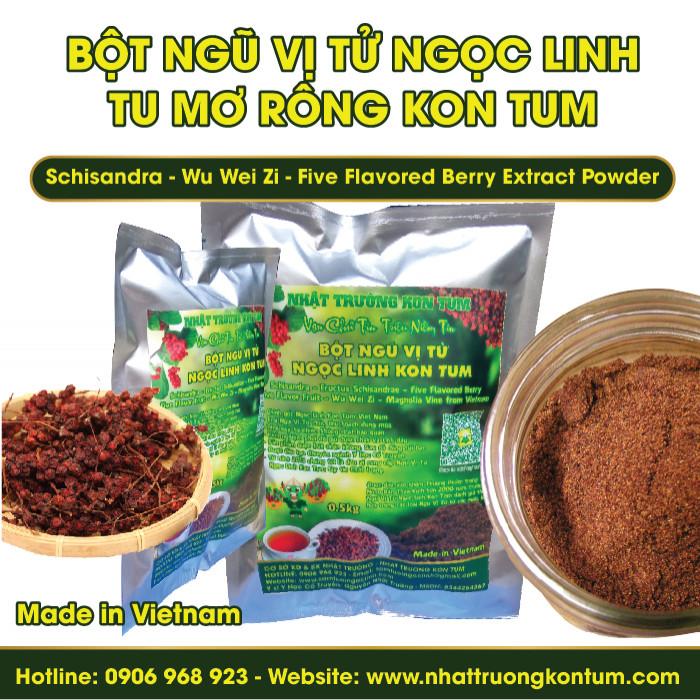 Bột Ngũ Vị Tử Tu Mơ Rông Ngọc Linh Kon Tum - Schisandra Extract Powder - Túi 0.5kg