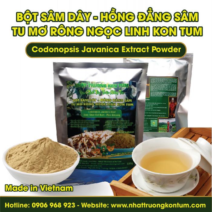 Bột Sâm Dây (Hồng Đẳng Sâm) Tu Mơ Rông Ngọc Linh Kon Tum - Codonopsis Javanica Extract Powder - Túi 1kg