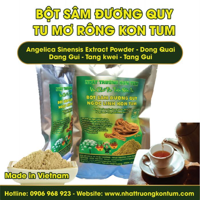 Bột Đương Quy Tu Mơ Rông Ngọc Linh Kon Tum - Angelica Sinensis Extract Powder - Túi 0.5kg
