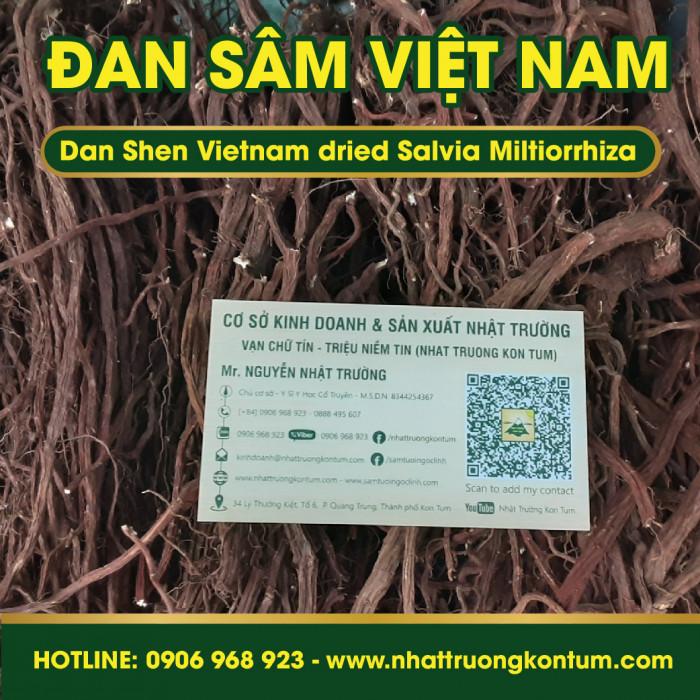 Đan Sâm Tây Nguyên Việt Nam Nhật Trường - Dan Shen Vietnam dried Salvia Miltiorrhiza - Túi 1kg