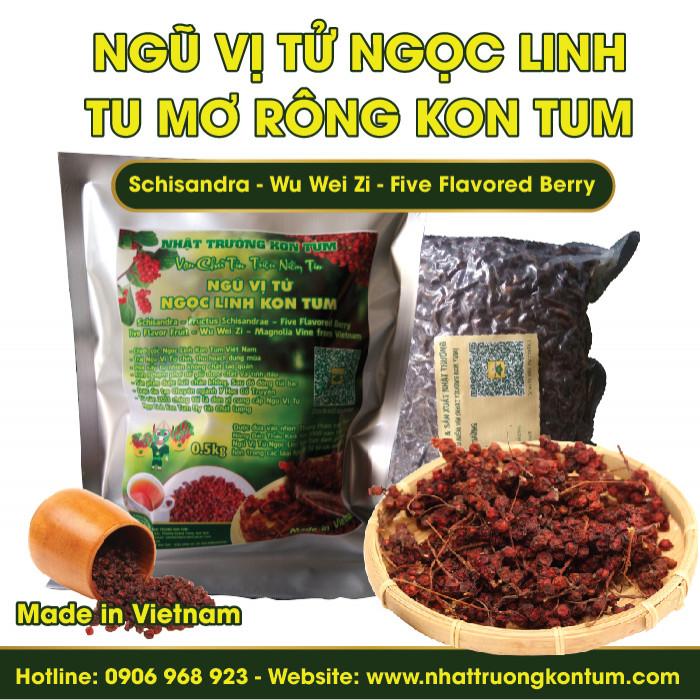 Ngũ Vị Tử Tu Mơ Rông Ngọc Linh Kon Tum - Schisandra - Túi 0.5kg